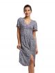 Floral Print Short Sleeve Maxi Dress
