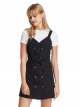Button Down Twill Pinafore Dress
