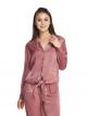 Tie Front Satin Sleep Shirt
