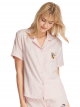 BUBBLE TEA & CAT Satin Pajama Top