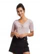 Stripe Short Sleeve Crop Top