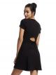 Fit Flare Short Sleeve Midi Dress