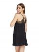 Lace Plunge Racerback Cami Slip Dress