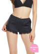 Lace Trim Satin Sleep Shorts